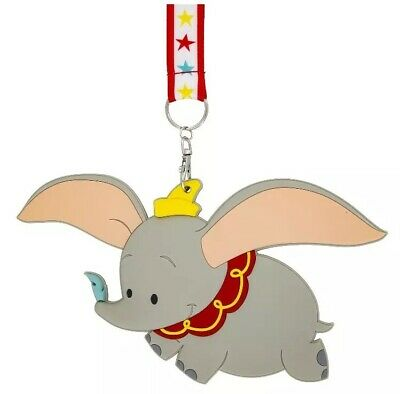 Disney Parks Dumbo The Flying Elephant ID Card Holder Lanyard Tag New With Tags