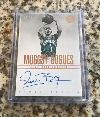 2018-19 Panini Encased Muggsy Bogues Auto Endorsements Copper /12