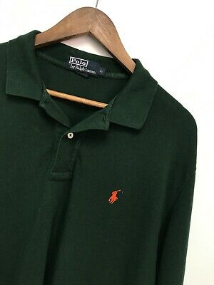 Mens Polo Ralph Lauren Classic Fit Striped Shirt Size 2XL Solid Green
