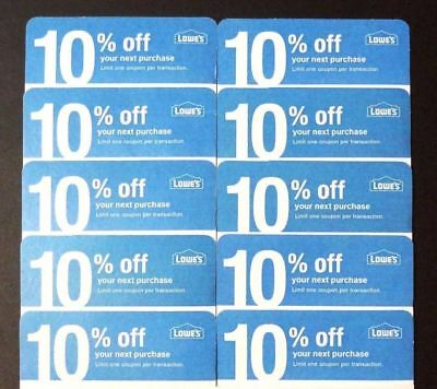 (20𝓧) Lowes 10% ᴏff Competitor Oɴʟʏ Coupon Cᴀʀᴅs | Home Depot | EXP JULY 2020