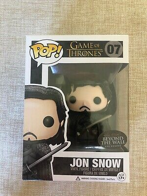 Funko Pop! Game of Thrones Jon Snow Beyond the Wall W Pop Protector Fast Ship !