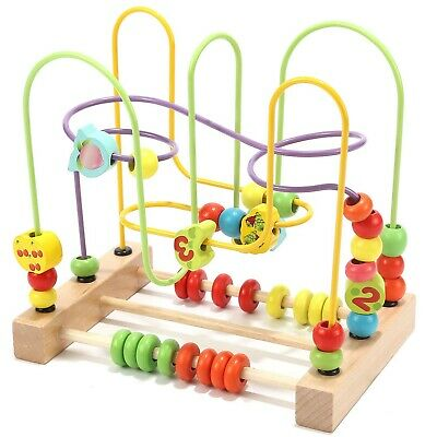 Fruit Bead Maze Roller Coaster Educational Toys for 1 2 3 Years Old Boys Girls