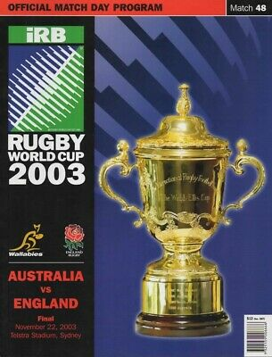 2003 Rugby Union World Cup Final England V Australia Scarce
