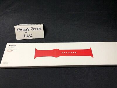 Original Apple Watch Series 4 3 2 Sport Band 38mm 40mm S/M & M/L - Red Brand New