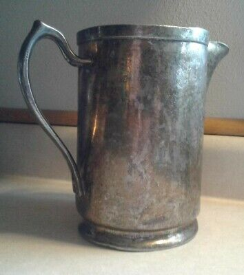 Vintage Grand Silver Co. Wear Brite Nickel Silver Pourer Pitcher