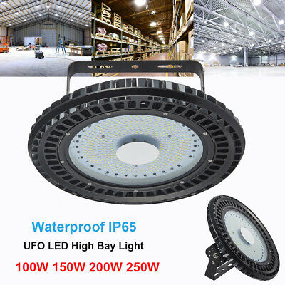 LED High Bay Light 100W 150W 200W 250W Warehouse Workshop Gym Industrial Lights