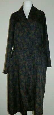 Vintage St Michael Mens Retro 80s Paisley Dressing Lounge Robe Gown Size L
