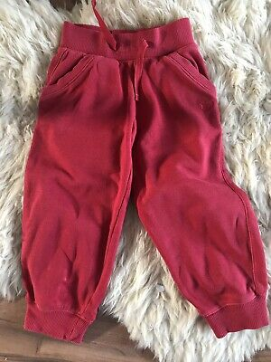 Next tracksuit Bottoms 2-3 Years Red