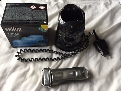 Braun Series 7 Clean & Renew Pulsonic Rechargeable Electric Shaver + Cleaner