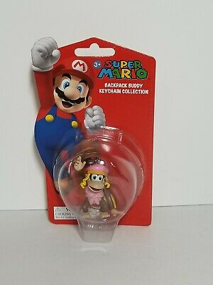 NIP Nintendo Super Mario Backpack Buddy Keychain Collection Dixie Kong Key Clip