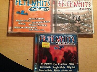 3 Doppel CD´s Fetenhits - Schlager, Oldie & The real classics