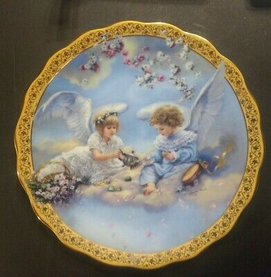 Sandra Kuck  Precious Party Gardens of Innocence collector plate angels Reco