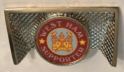 West Ham United Goals 70s 80s Style Old Rare Collectable Football Pin Badge