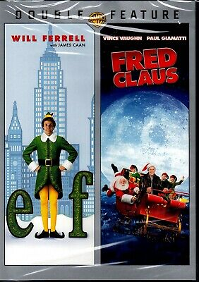 New Christmas Double Feature Dvd-  Elf + Fred Claus - Will Ferrell ,Vince Vaughn