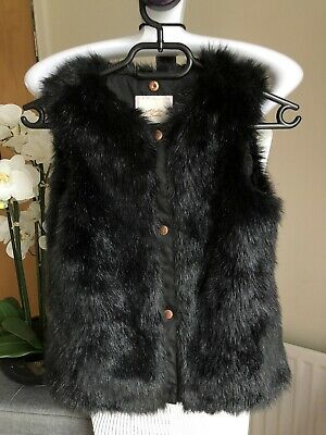 Ted Baker Girls Black Faux Fur Gillet Age 7