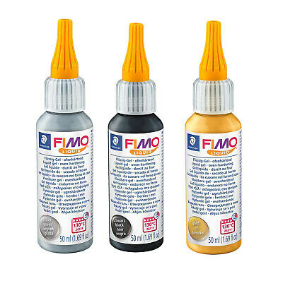 Fimo Liquid 50ml Oven Hardening Deco Gel - Choose from 3 Colours
