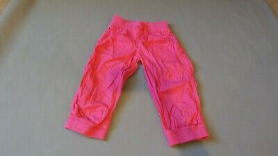 Girls Hot Pink Capri Cuffed Elasticated Waist Trousers Shorts Harem Next Age 12
