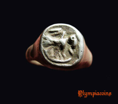** AMAZING  ** Ancient Roman  SILVER Ring ** BIRD **