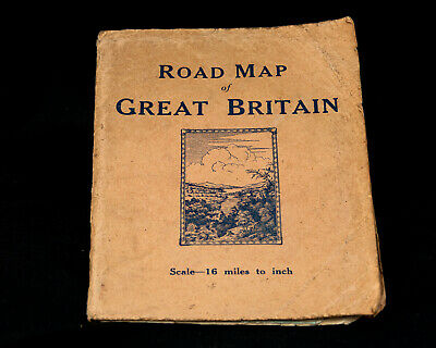 Road Map of Great Britain Scale-16 miles to inch, W. & A.K. Johnston Ltd 1930