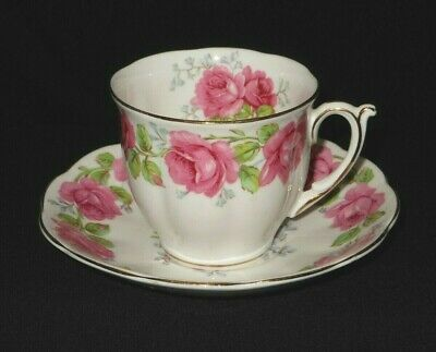 Lady Alexander Rose UK gorgeous colorful fine bone china tea cup and saucer.