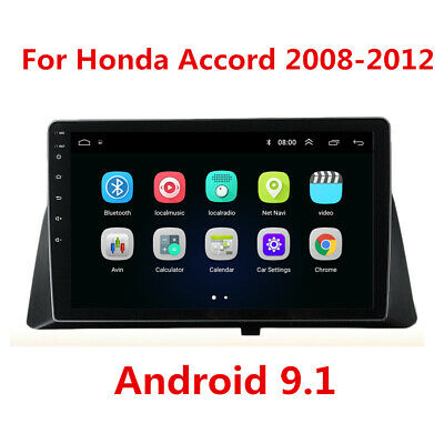 "For Honda Accord 08-12 10.1"" Android 9.1 Radio Stereo GPS WIFI Quad Core 1+16GB"