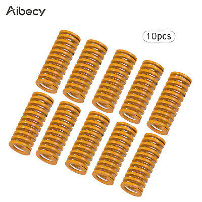 10pcs 10mm OD 20mm Long Light Load Stamping Compression Mould Die Yellow Spring