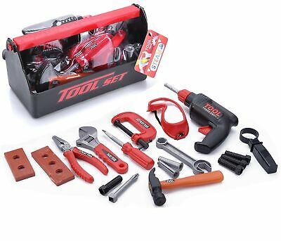 Kids Tool Set for Toddlers Age 3 4 5 6 7 Year Old Boy Toys - 23 pc Tool Box Set