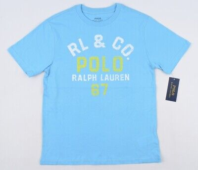 POLO RALPH LAUREN Boys' Kids' Turquoise Blue T-shirt, sizes 10-12 or 14-16 Years