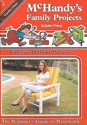 McHandy's family projects #6 garden chair factory folded plans vintage 1982