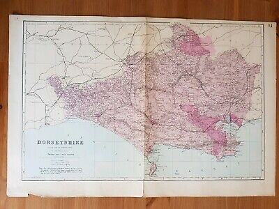 G.W.Bacon Antique Complete map of Dorsetshire c.1880