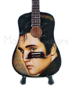 Miniature Guitar ELVIS PRESELY with free stand.