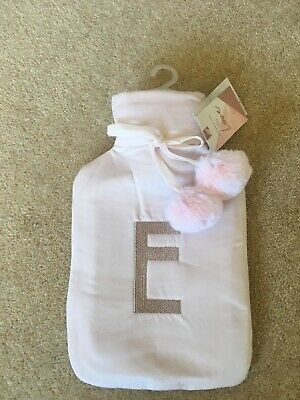 Pink Initial E Hot Water Bottle Brand New