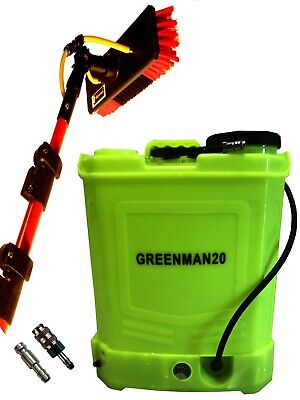 20 L Window Cleaning Backpack And 30 Ft  Bayersan Water Fed Glass Fibre Pole
