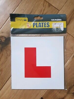 2 x FULLY MAGNETIC L PLATES SECURE Quick Easy To Fix Learner Sign UK POWERSELLER