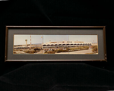 Vintage Colour Photomontage Kingsford Smith Airport circa 1975 Mounted & Framed