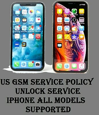 NEW US GSM/VZW N61/N56 SERVICE POLICY IPHONE UNLOCK /5/5c/5s/6/6s/6s+/SE/7/7+/8