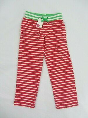 NEW MINI BODEN towelling sweatpants joggers beach holidays 6 years  green pink
