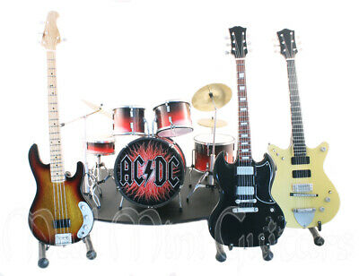 Mini Guitars + Drum Kit AC/DC FULL BAND SET with stage