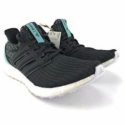 Adidas Mens Ultraboost 4.0 Parley Core Black White Running Shoes F36190 Size 8 M