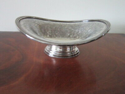 Antique silver plate oval dish