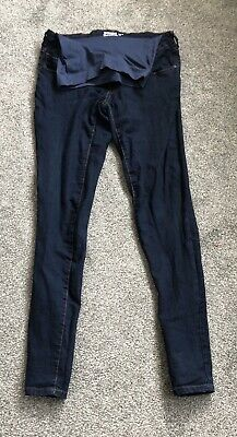 Navy Maternity Skinny Over Bump Jeans Mothercare Blooming Marvellous Size10 L34