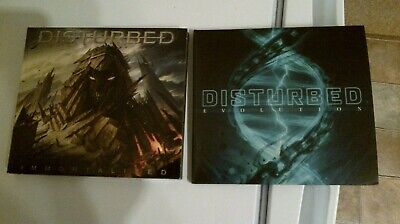Disturbed band 2X Deluxe edition CDs Evolution and Immortalized