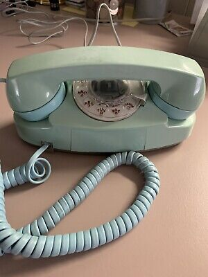 Vintage Western Electric Blue Princess Rotary Dial Telephone Reconditioned