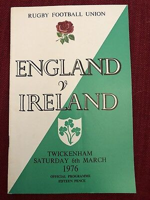 ENGLAND V IRELAND TWICKENHAM - SATURDAY 6th MARCH 1976