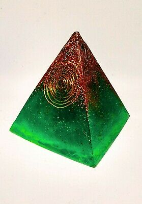 Emerald Green Orgone Pyramid An EMF Blocker & Energy Generator