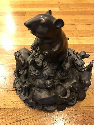 Chinese Bronze Carving 12 Zodiac Year Monkey Dragon Sheep Dog Animal Statue