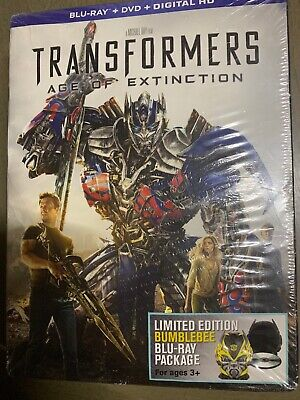 Transformers 4 Age of Extinction Exclusive BUMBLEBEE BluRay+DVD Package New&Seal