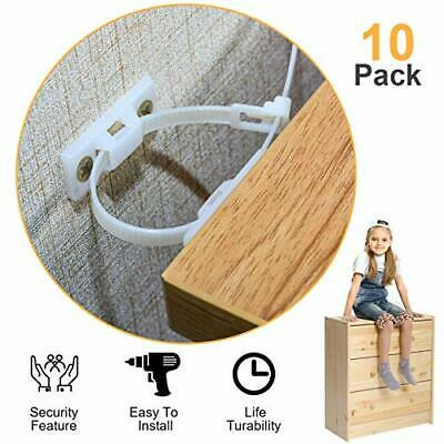 Furniture Straps,(10-Pack)Wall Anchor, Furniture Anchors for Baby Proofing...