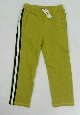 NEW MINI BODEN  sweatpants joggers STRIPES mustard 6 years slim fit boy / girl