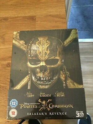 Pirates Of The Carribean Salazar's Revenge Limited Edition 3D Blu Ray Steelbook